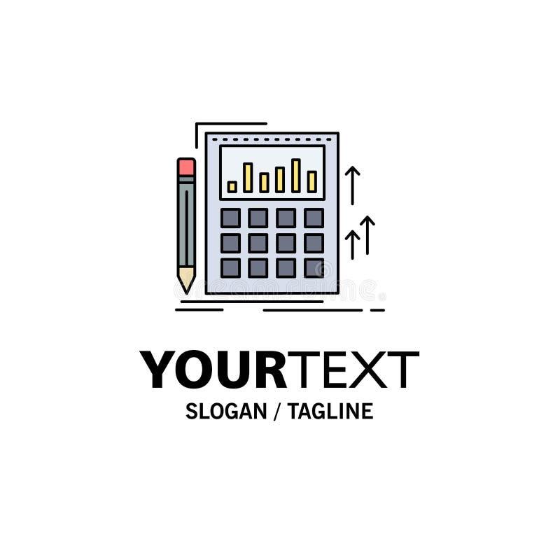 Contabilità, verifica, attività bancarie, calcolo, vettore piano dell'icona di colore del calcolatore illustrazione vettoriale