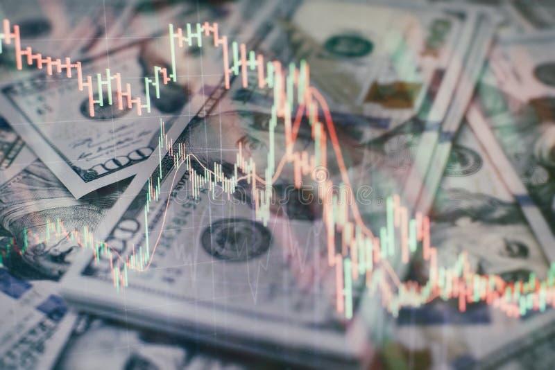 Contabilit? dell'analisi dei grafici del riassunto di profitto Il business plan alla riunione ed analizzare i numeri finanziari p immagine stock