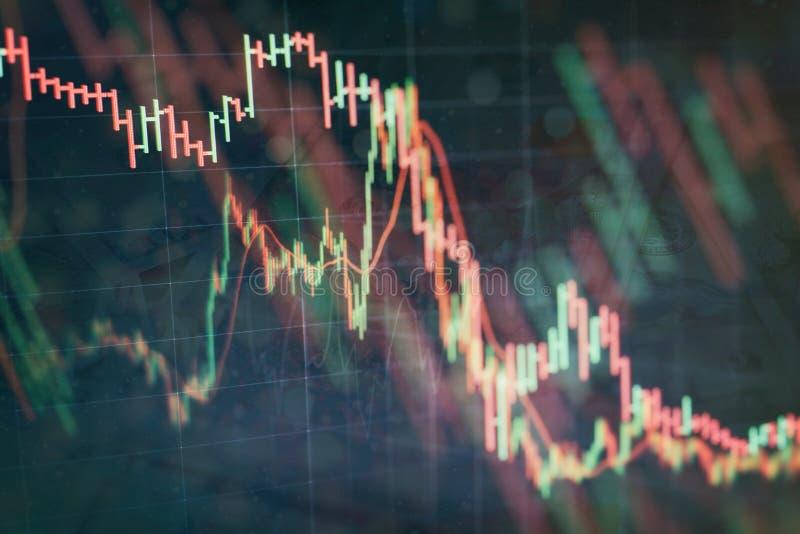 Contabilit? dell'analisi dei grafici del riassunto di profitto Il business plan alla riunione ed analizzare i numeri finanziari p fotografia stock