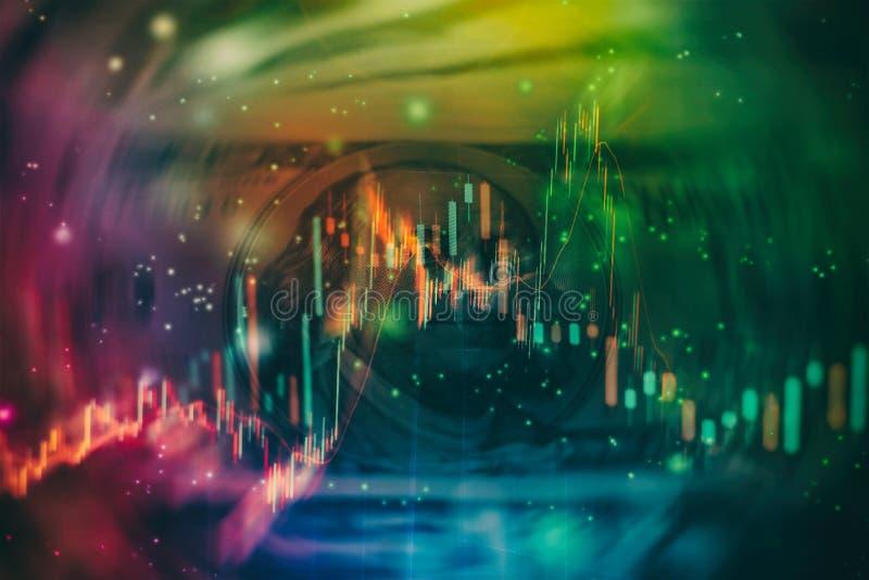 Contabilit? dell'analisi dei grafici del riassunto di profitto Il business plan alla riunione ed analizzare i numeri finanziari p immagine stock libera da diritti