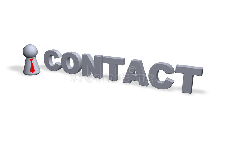Contact illustration stock