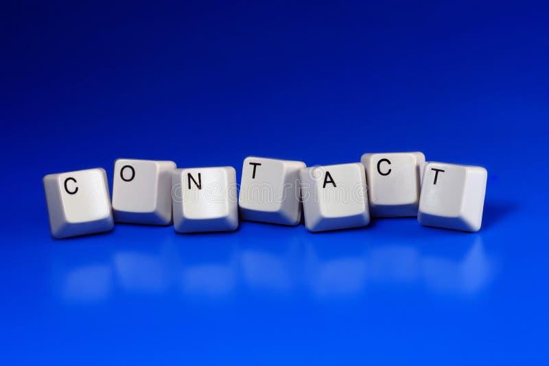 Contact. Written with keyboard keys