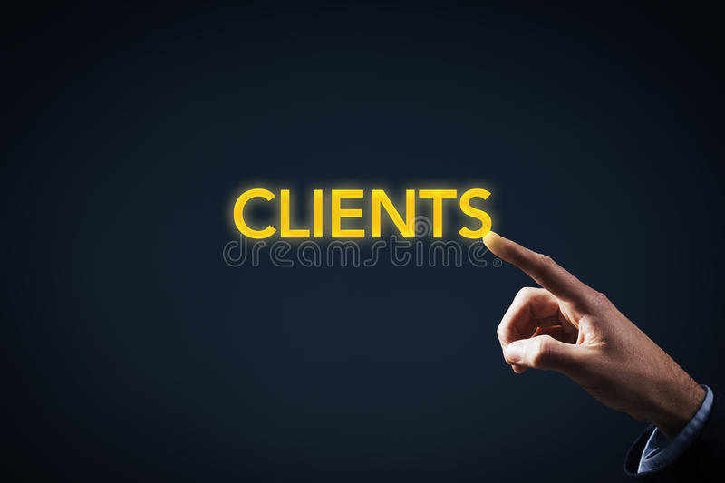 Contact with clients royalty free stock photos
