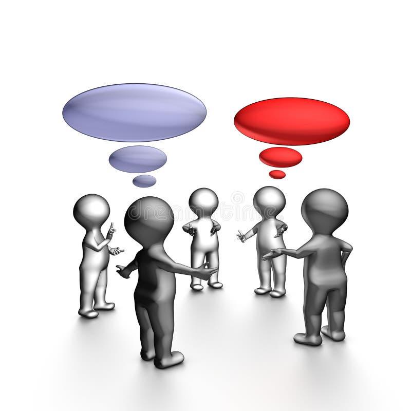 Contact comique agile illustration de vecteur