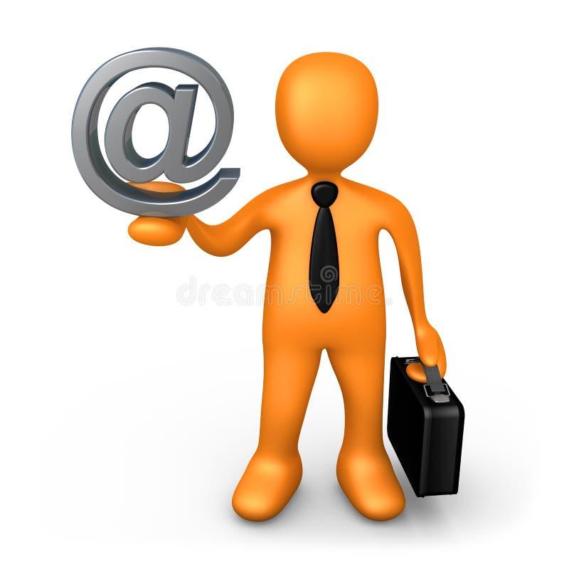 Contact d'affaires illustration libre de droits