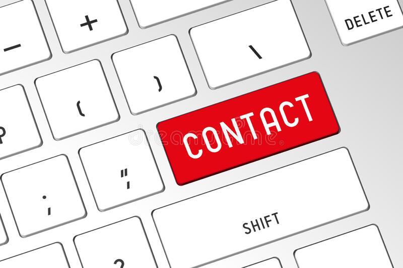 Contact - 3D computer keyboard royalty free stock image