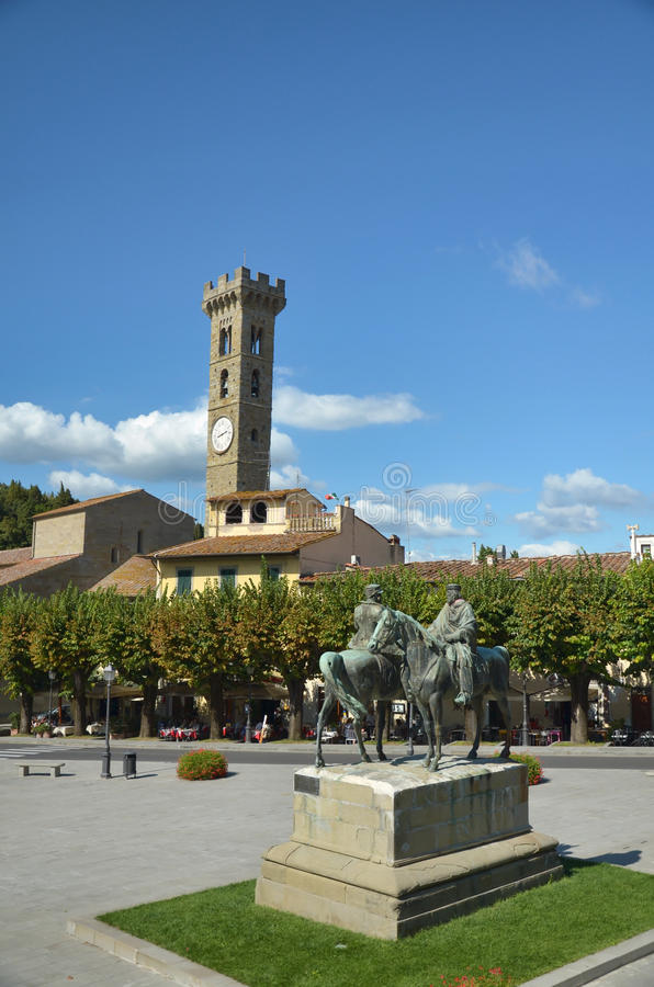 Contact de Garibaldi et de Roi Vittorio Emanuele II photos stock