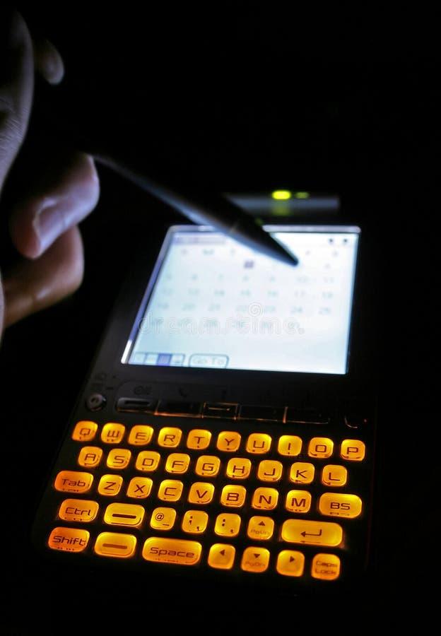 Contact de PDA photo stock