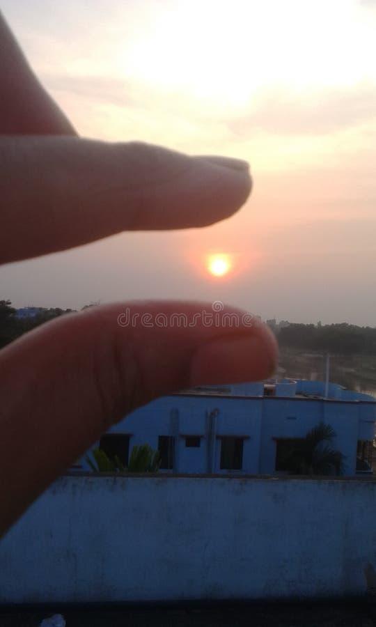 Contact de Sun photo stock