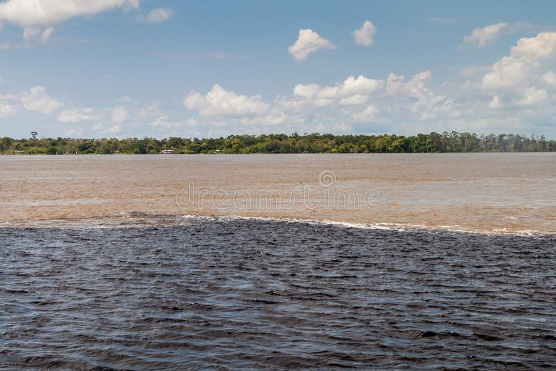 Contact des eaux images stock