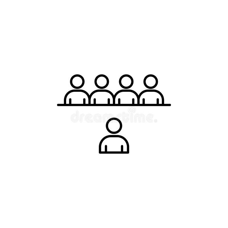 contact, discussiepictogram Element van een beroepspictogram voor mobiel concept en webapps Het dunne lijncontact, besprekingspic royalty-vrije illustratie