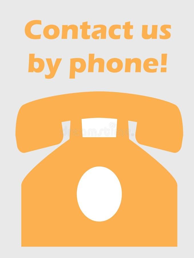 Contact door telefoonconcept stock foto