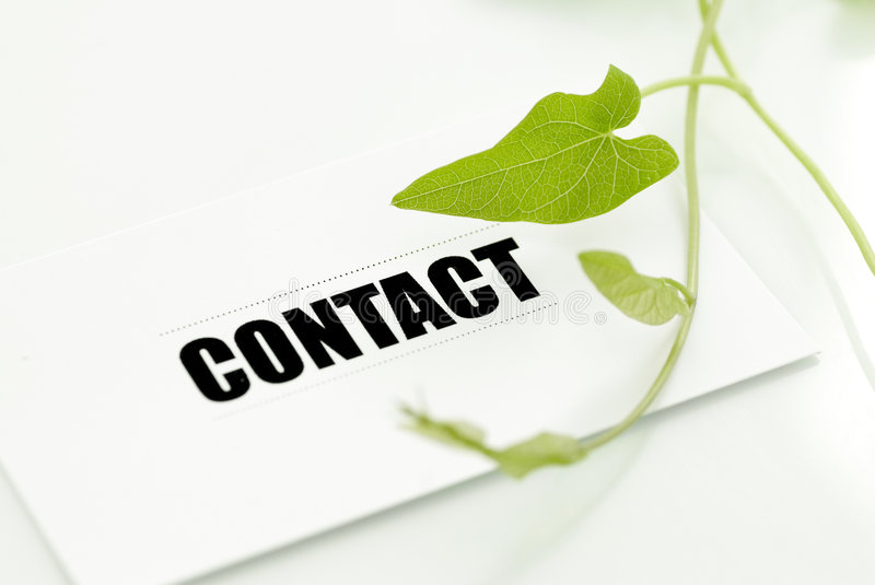 Contact for environmental cons royalty free stock photo