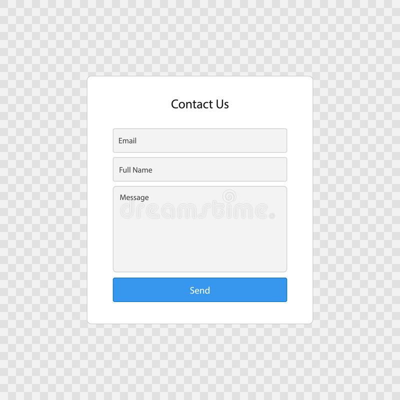 Contact form page. Template isolated . Template for your design vector illustration