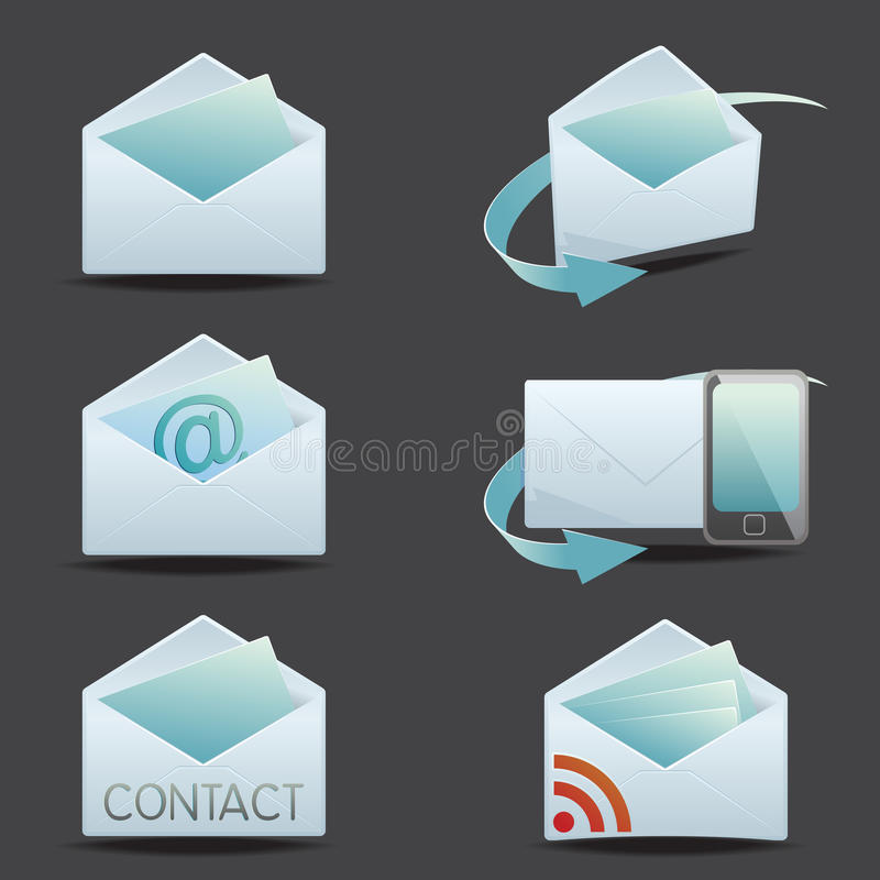 Download Contact icon set stock vector. Illustration of envelope - 26375494