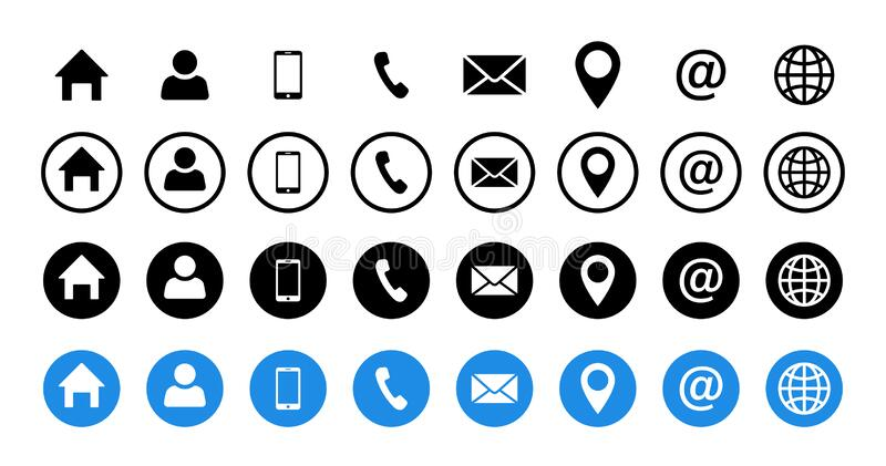 Home Phone Email Icon Stock Illustrations 4 946 Home Phone Email Icon Stock Illustrations Vectors Clipart Dreamstime