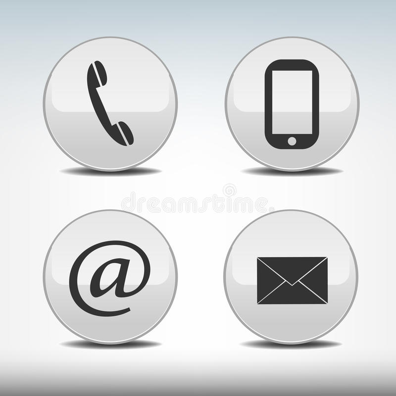 Download Contact icons stock vector. Illustration of button, concept - 28127966