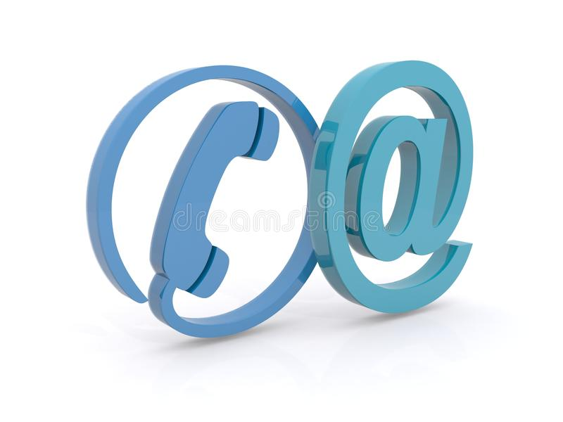 Contact illustration royalty free stock image