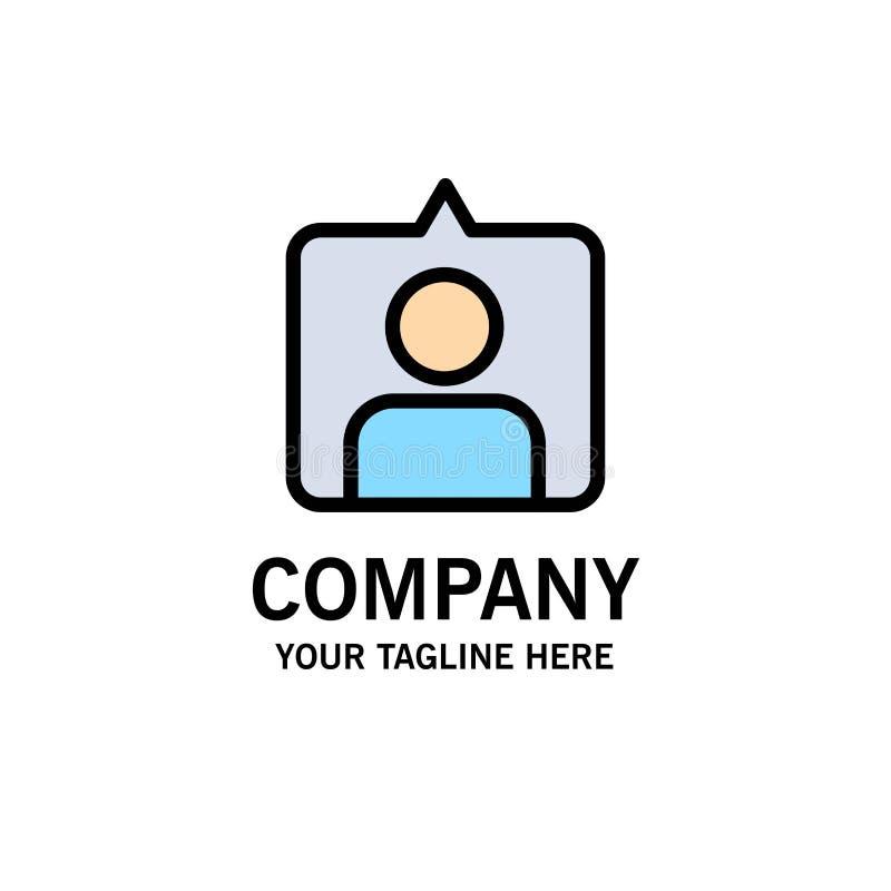 Contact, Instagram, Reeksenzaken Logo Template vlakke kleur royalty-vrije illustratie