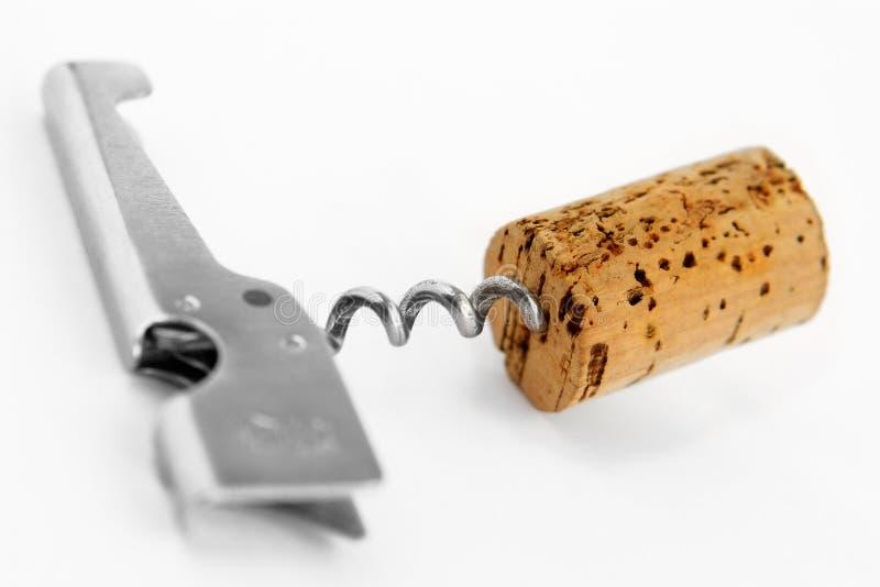 Contact-kurketrekker en wijnzekering royalty-vrije stock foto's