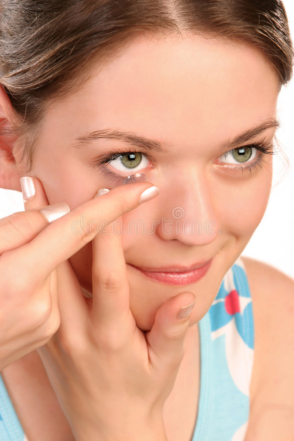Free Contact Lens Royalty Free Stock Photo - 1289735