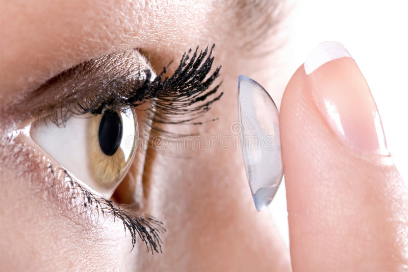 Contact lens. (eye and stock photos
