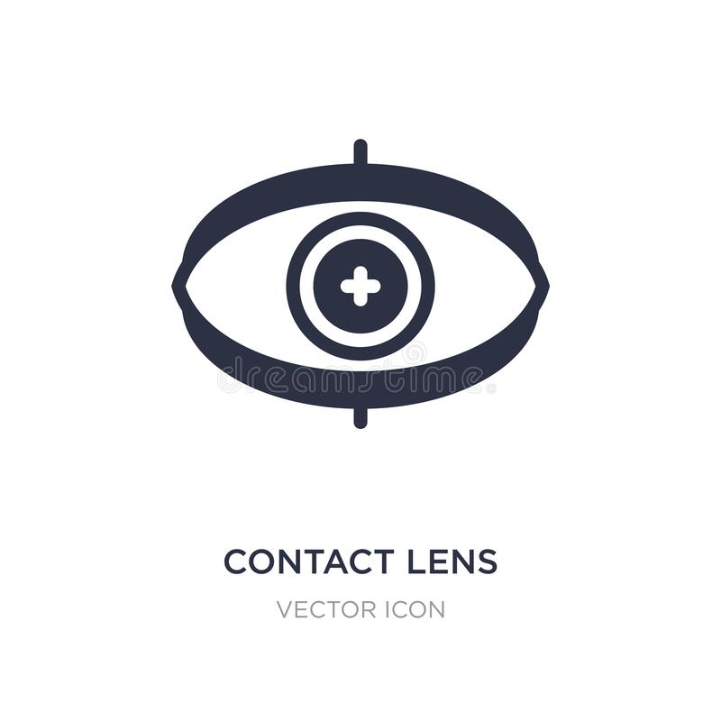 contact lens icon on white background. Simple element illustration from Technology concept vector illustration