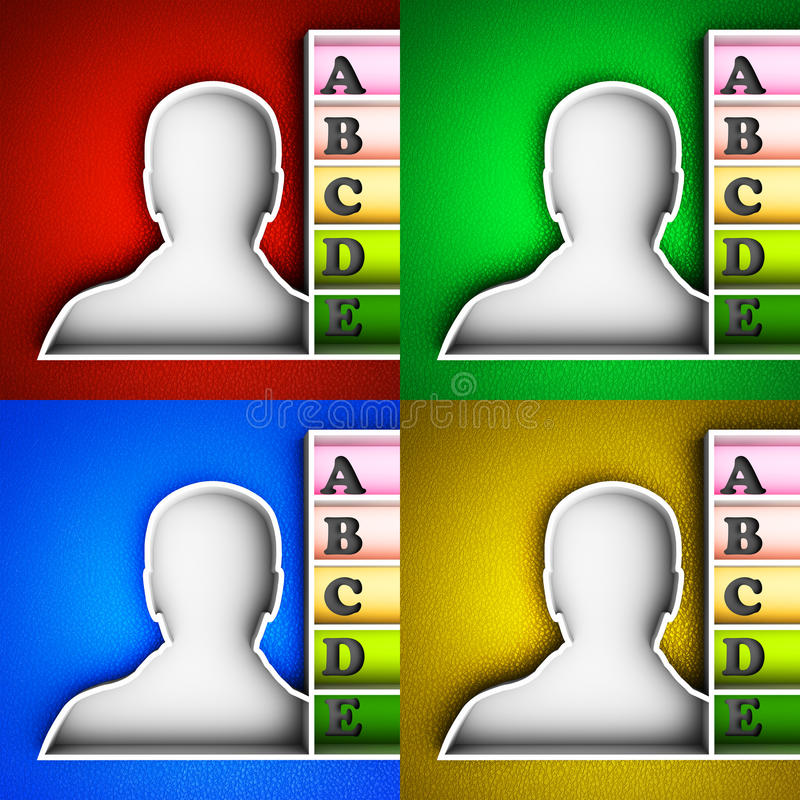 Download Contact list icon stock illustration. Illustration of computer - 34342326