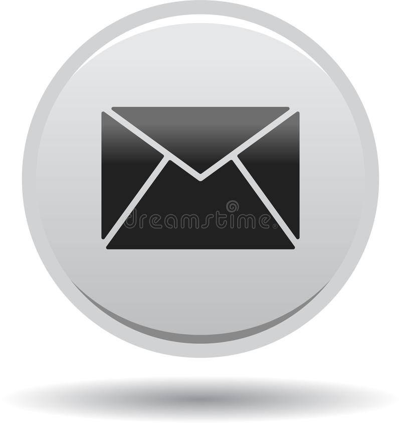 Contact mail icon web buttons grey. Vector illustration isolated on white background - contact mail icon web buttons grey stock illustration