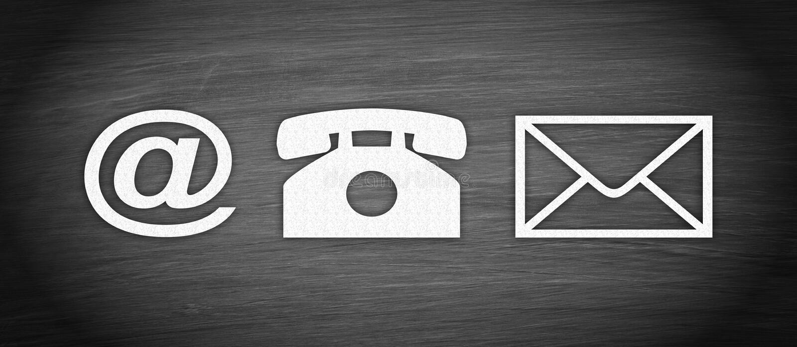 Contact Options - Internet, Phone, Letter. Contact us royalty free illustration
