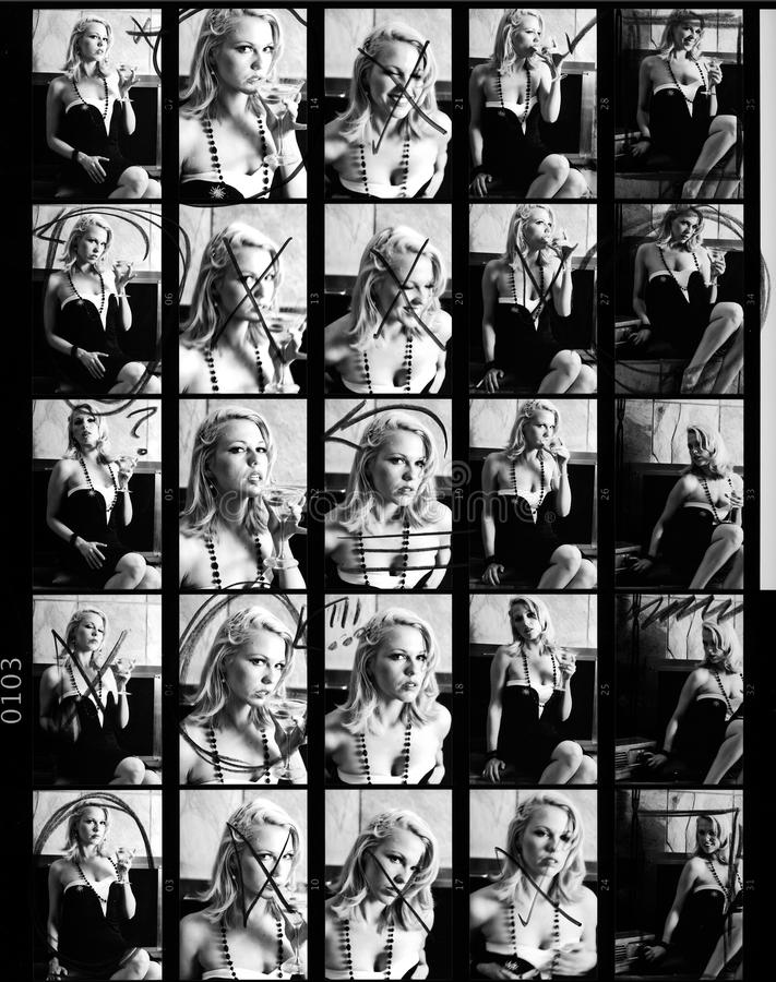 Free Contact Or Proof Sheet From Retro Photo Shoot Stock Photos - 9752303