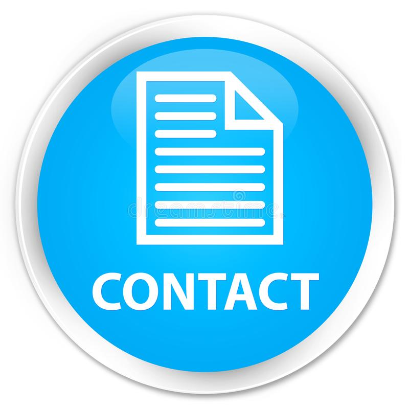 Contact (page icon) premium cyan blue round button. Contact (page icon) isolated on premium cyan blue round button abstract illustration royalty free illustration