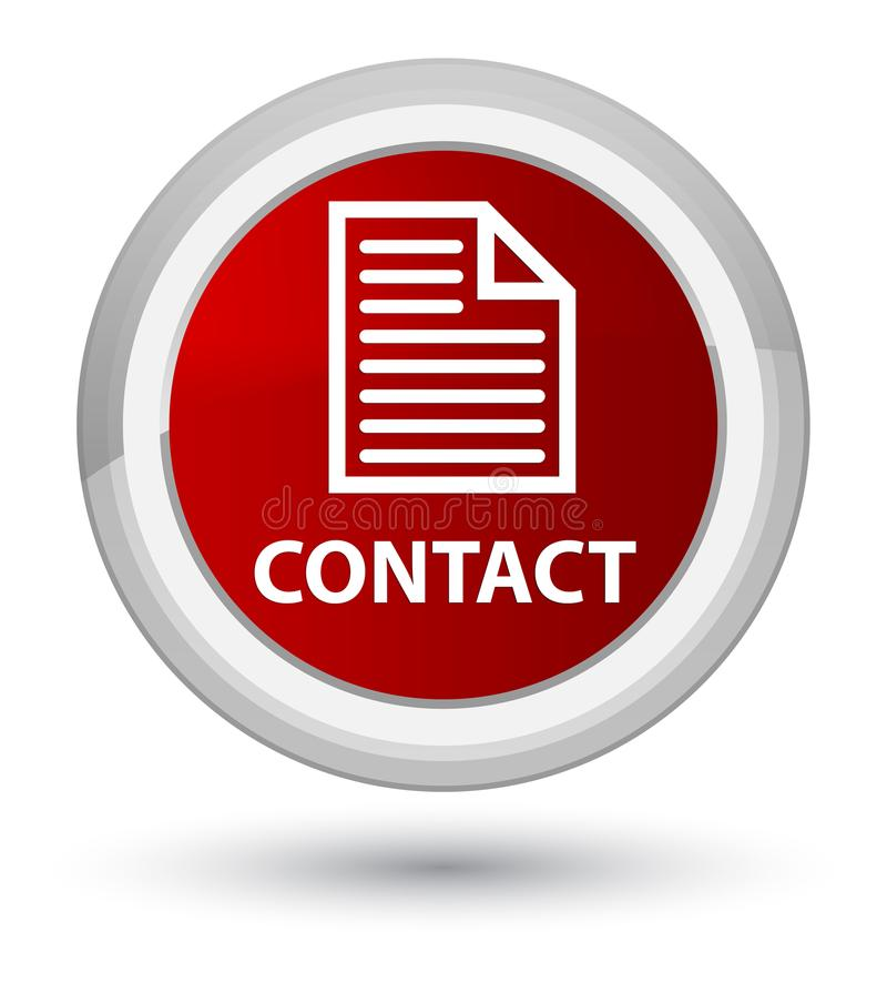 Contact (page icon) prime red round button. Contact (page icon) on prime red round button abstract illustration vector illustration