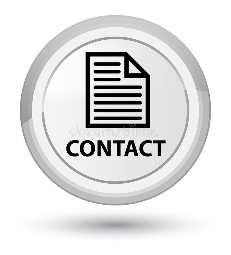 Contact (page icon) prime white round button. Contact (page icon) isolated on prime white round button abstract illustration stock illustration