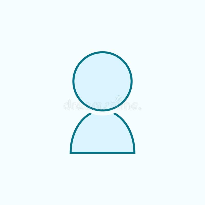 contact 2 rassenbarrièrepictogram Eenvoudige kleurenelementillustratie het ontwerp van de contactoverzichtsknop van Webpictogramm royalty-vrije illustratie