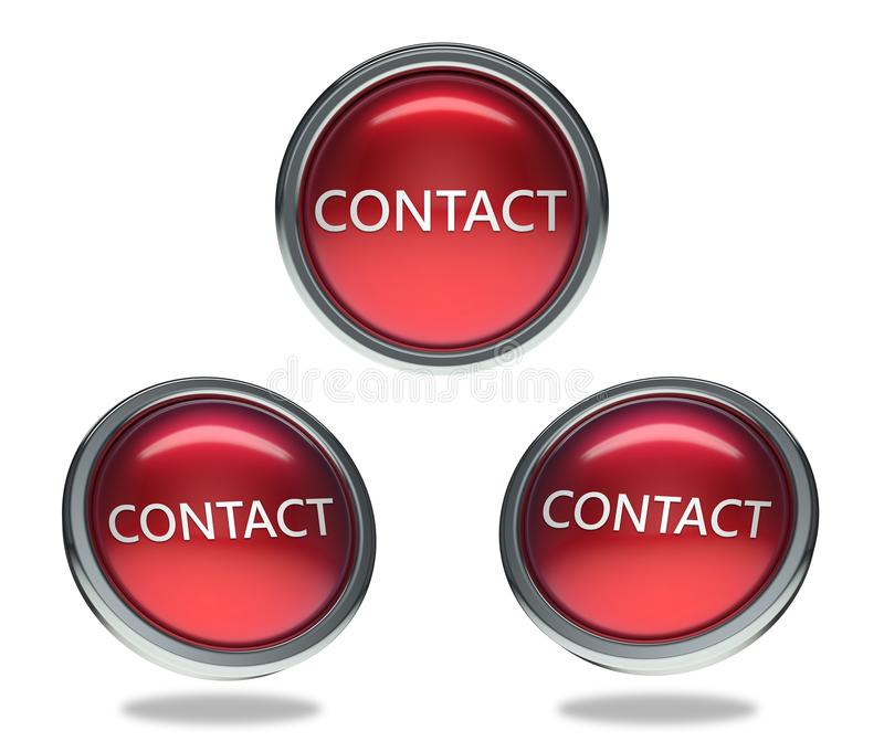 Contact glass button royalty free illustration