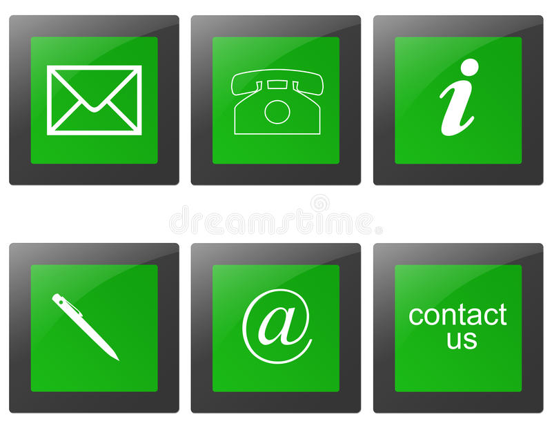 Contact signs. Commercial contact signs for business vector illustration