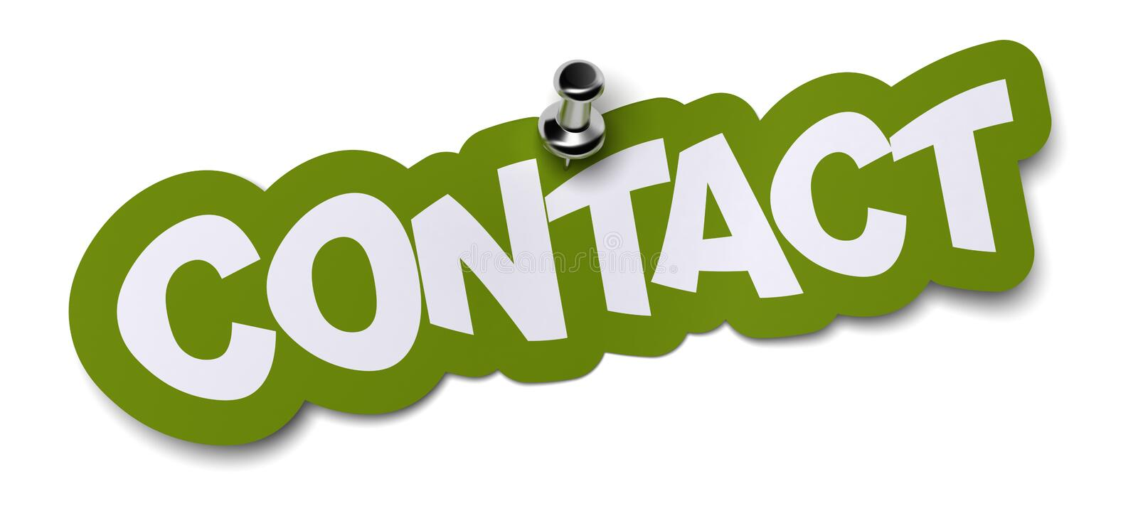 Contact sticker stock illustration