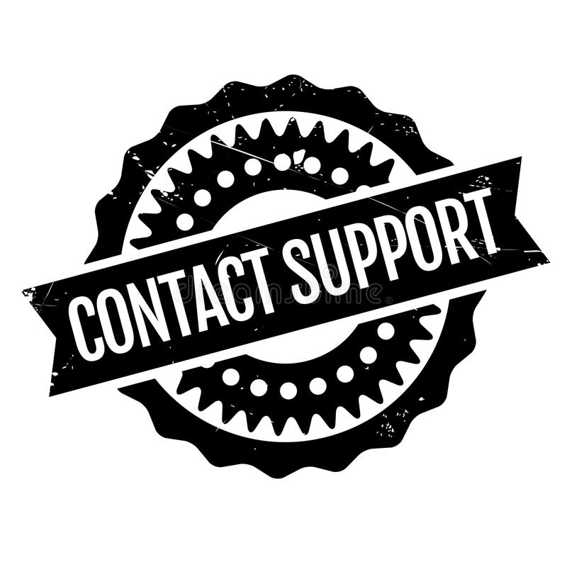 Contact Support rubber stamp vector illustration