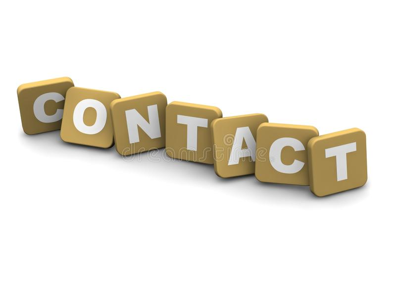 Contact text royalty free illustration