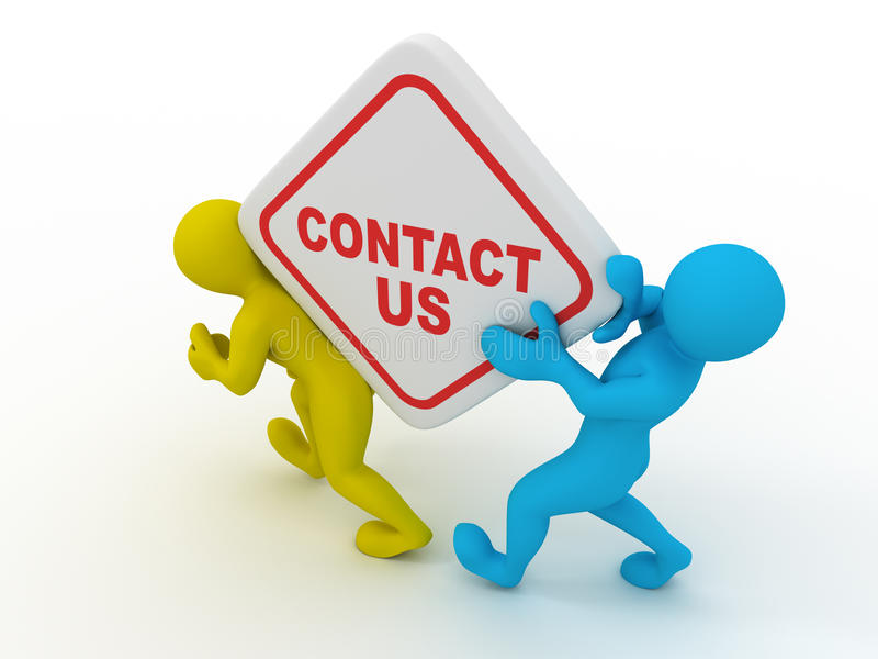 Contact us vector illustration