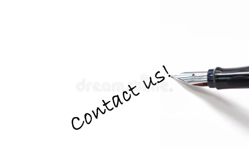 Download Contact us! stock photo. Image of memo, words, request - 12570778