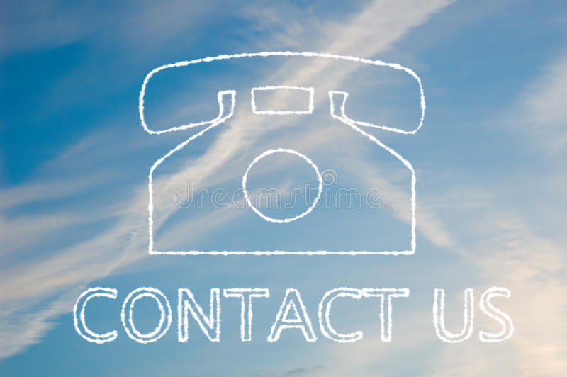 Download Contact us stock illustration. Image of commercial, icon - 13512188