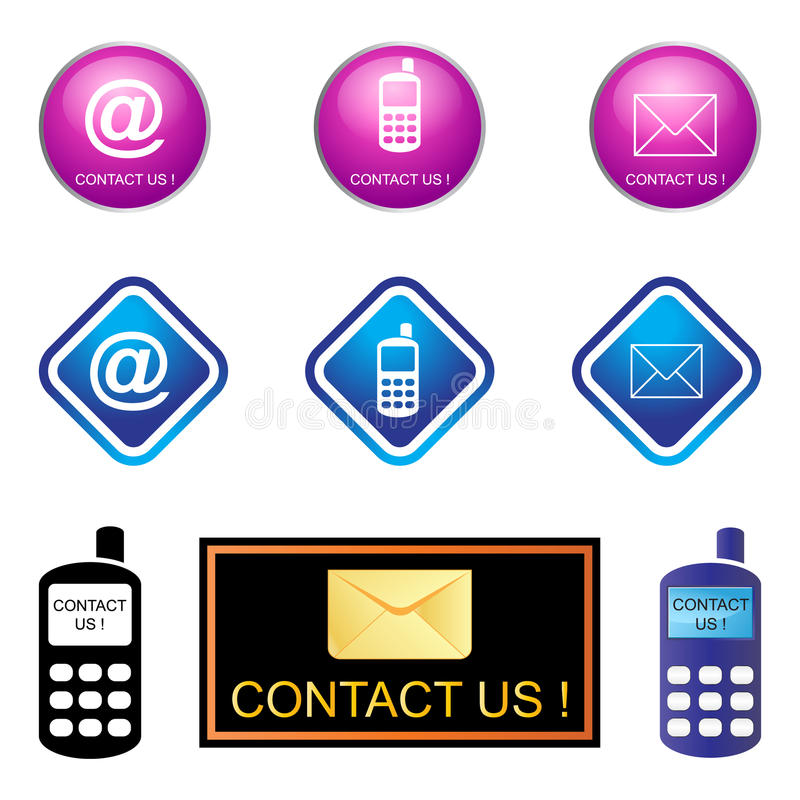 Download Contact us stock vector. Image of isolated, email, deal - 19320054