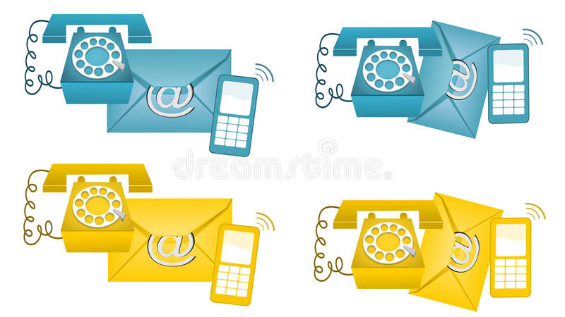 Download Contact Us stock image. Illustration of calls, email - 19360435