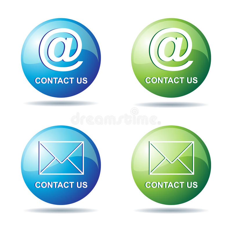 Download Contact us stock vector. Illustration of decorative, internet - 23363517