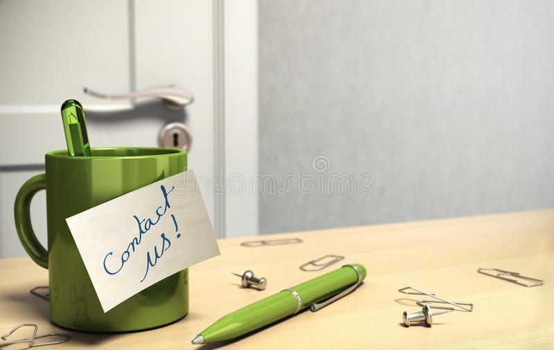 Contact us stock illustration