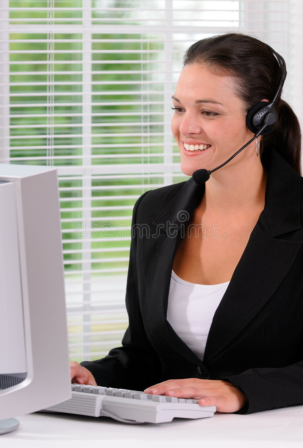 Contact Us. Call Center Woman Speaking With A Customer