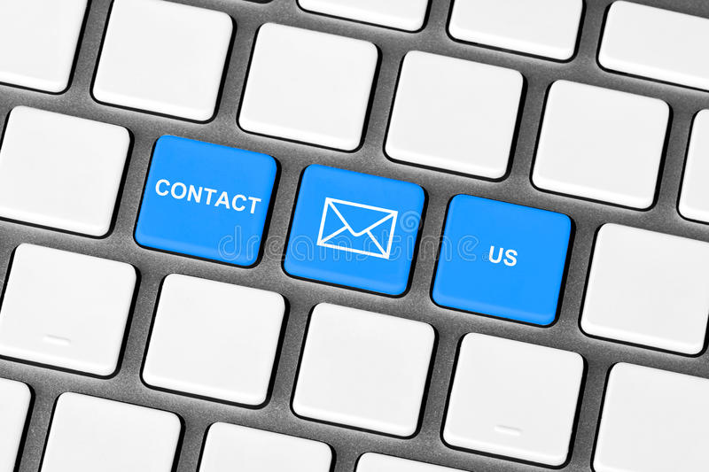 Download Contact Us blue key stock image. Image of computer, internet - 24773541