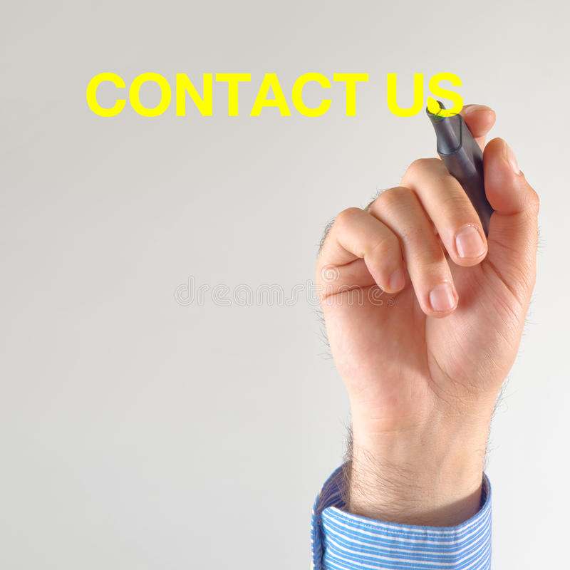 Download Contact us stock image. Image of write, presentation - 31014449